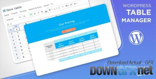 JoomUnited - WP Table Manager v3.0.0 - The WordPress Table Editor Plugin