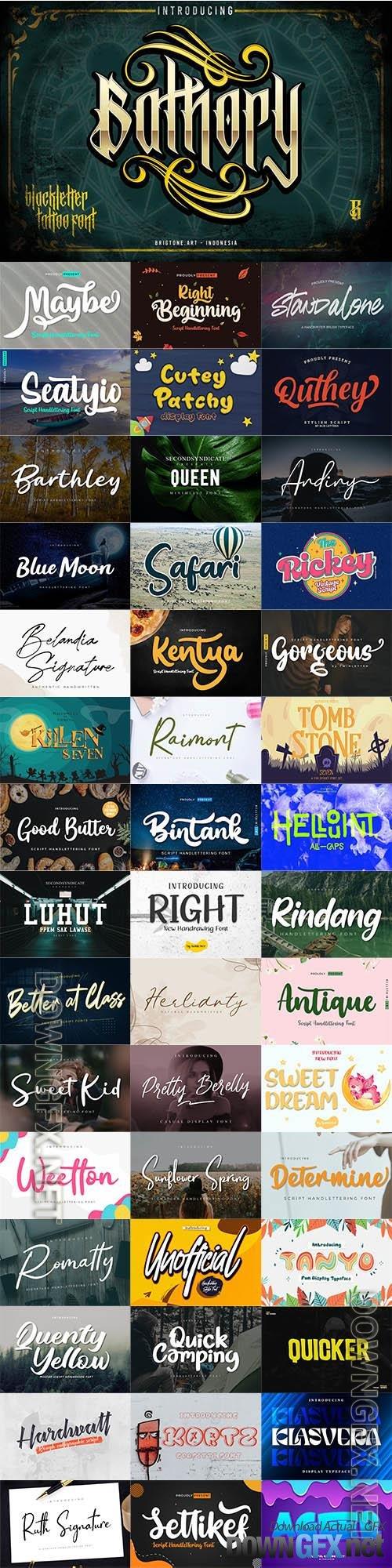 48 Awesome Fonts Bundle 14 (OTF, TTF, WOFF)