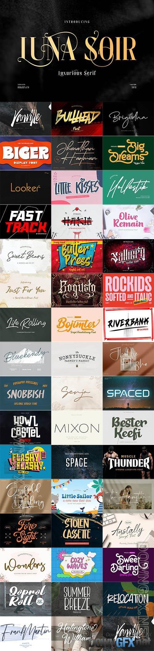 48 Awesome Fonts Bundle 13 (OTF, TTF, WOFF)