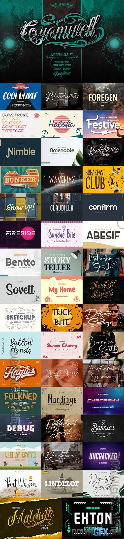 48 Awesome Fonts Bundle 11 (OTF, TTF, WOFF)