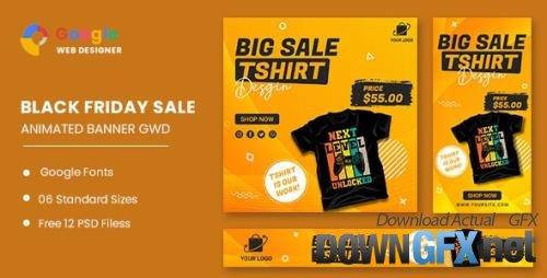 CodeCanyon - Big Sale Tshirt HTML5 Banner Ads GWD v1.0 - 33671397