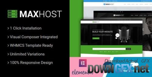 ThemeForest - MaxHost v7.6.1 - Web Hosting, WHMCS and Corporate Business WordPress Theme with WooCommerce - 15827691 - NULLED