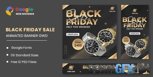 CodeCanyon - Black Friday Sale Watch HTML5 Banner Ads GWD v1.0 - 33705922