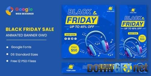 CodeCanyon - Black Friday Sale Headphone HTML5 Banner Ads GWD v1.0 - 33705838