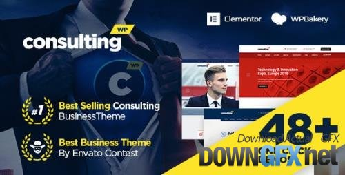 ThemeForest - Consulting v6.1.8 - Business, Finance WordPress Theme - 14740561 - NULLED
