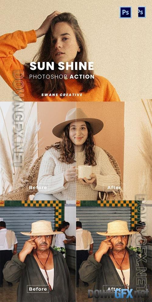 Sun Shine Photoshop Action