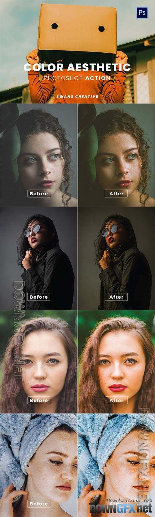 Color Aesthetic Photoshop Action