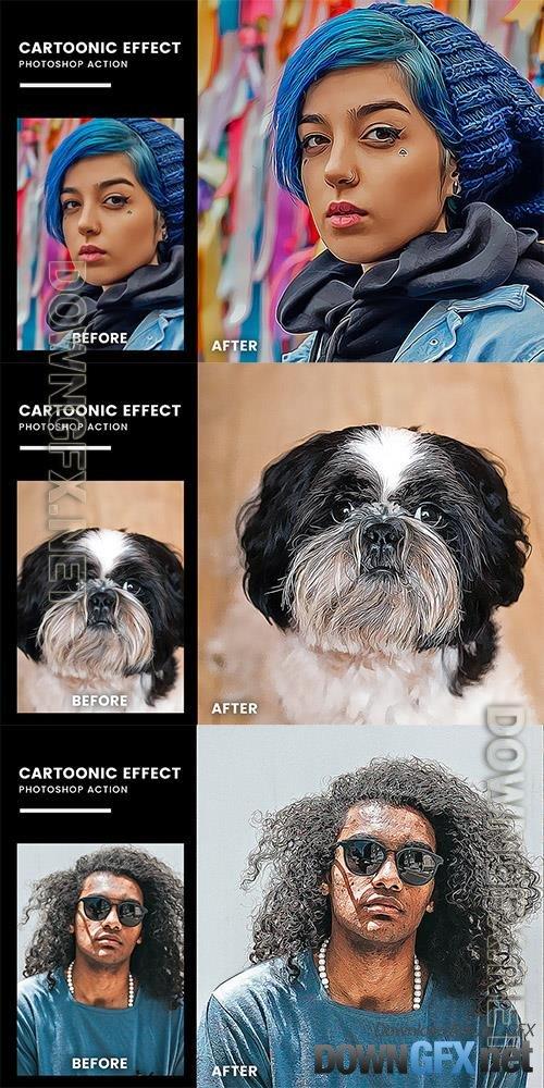 Cartoonic Effect Photoshop Action