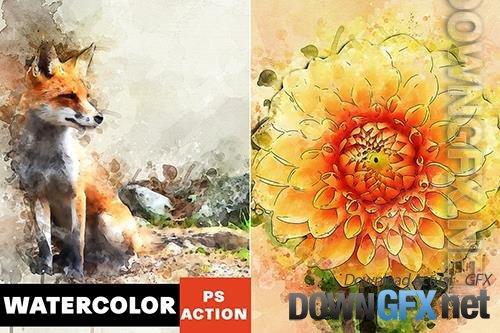 Watercolor Masterpiece Photoshop Action