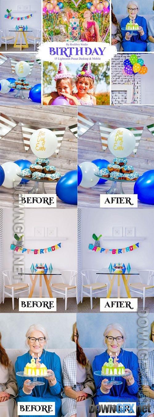 15 Birthday Lightroom Presets