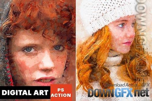 Digital Art Photoshop Action