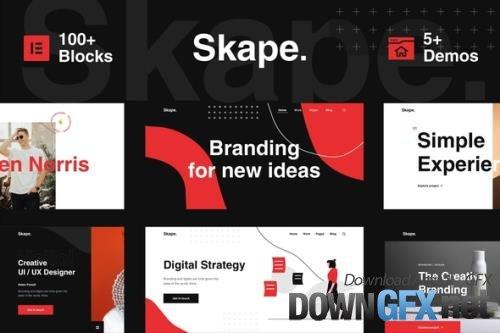 ThemeForest - Skape v1.0.1 - Creative Digital Agency Business Elementor Template Kit - 26417206