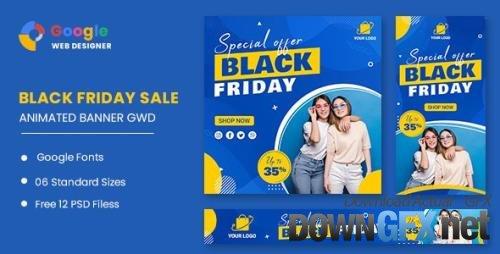 CodeCanyon - Black Friday Sale Fashion HTML5 Banner Ads GWD v1.0 - 33747777