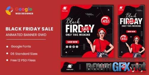 ThemeForest - Big Sale Black Friday HTML5 Banner Ads GWD v1.0 - 33747770