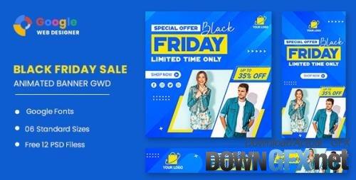 CodeCanyon - Black Friday Fashion Sale HTML5 Banner Ads GWD v1.0 - 33747790