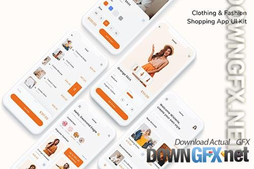 Clothing & Fashion Shopping App UI Kit