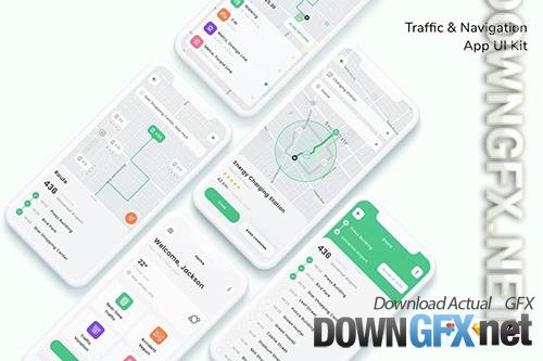 Traffic & Navigation App UI Kit