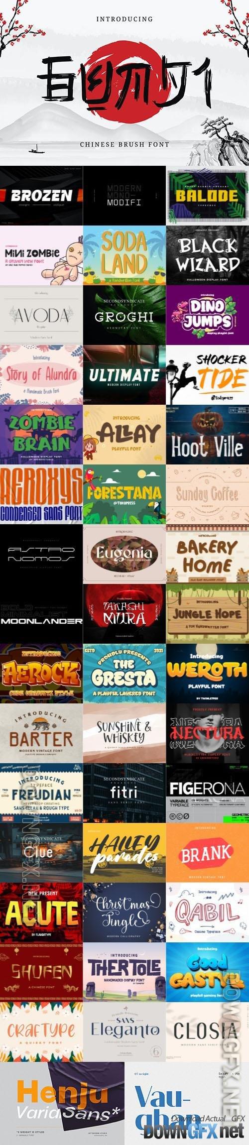 48 Awesome Fonts Bundle 16 (OTF, TTF, WOFF)