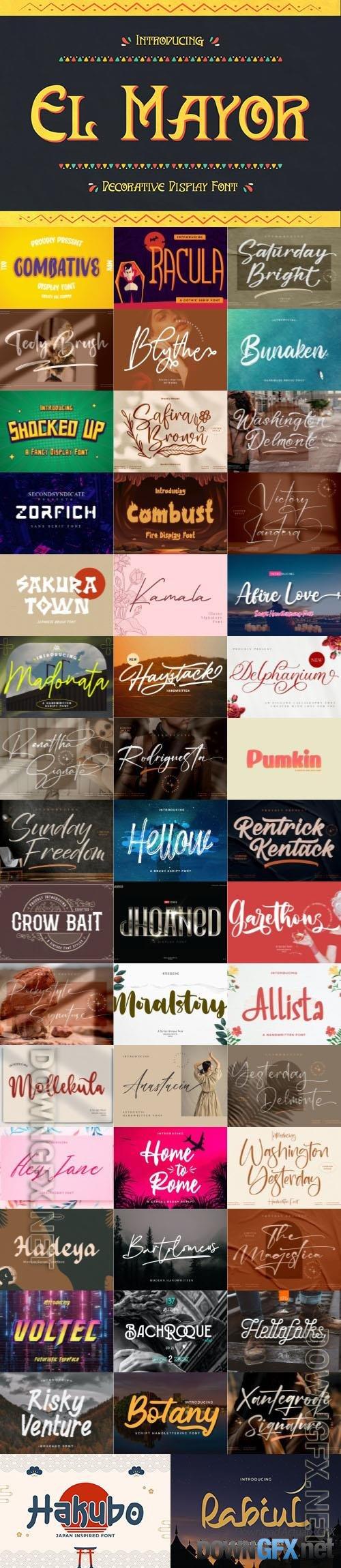 48 Awesome Fonts Bundle 17 (OTF, TTF, WOFF)
