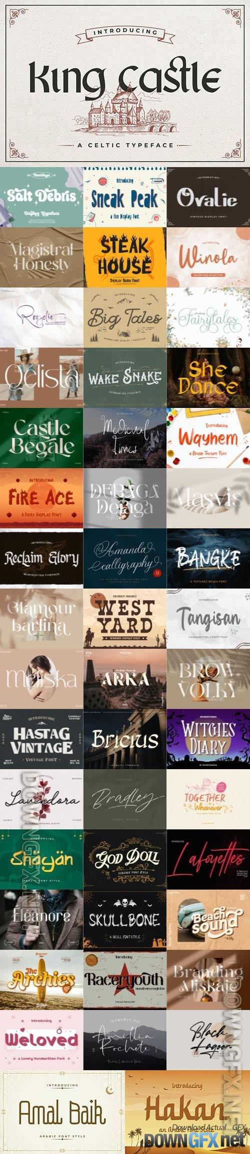 48 Awesome Fonts Bundle 18 (OTF, TTF, WOFF)