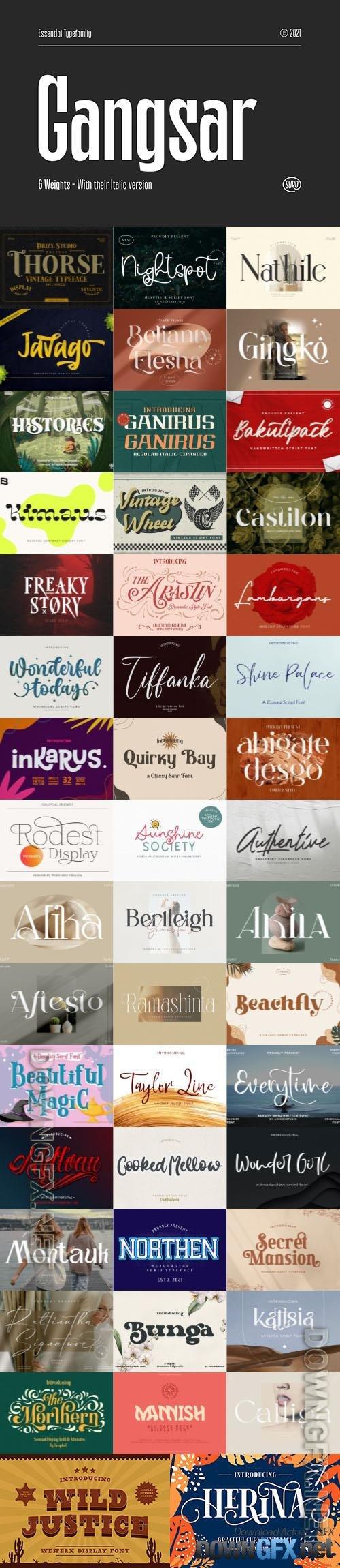 48 Awesome Fonts Bundle 15 (OTF, TTF, WOFF)