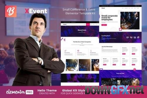ThemeForest - XEvent v1.0.0 - Small Conference & Event Elementor Template Kit - 33784408