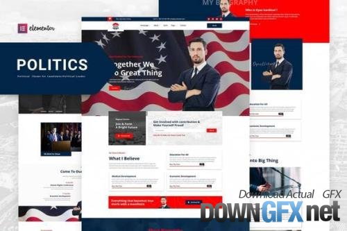 ThemeForest - Politics v1.0.2 - Political Candidate Leader Elementor Template Kit - 33740078