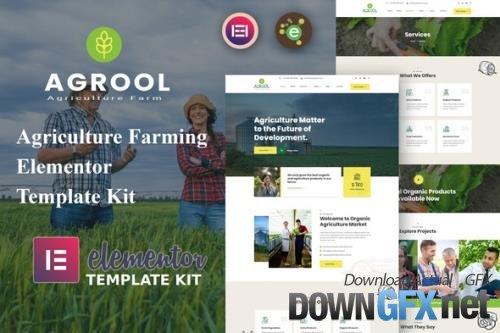 ThemeForest - Agrool v1.0.0 - Agriculture Farming Elementor Template Kit - 33720710