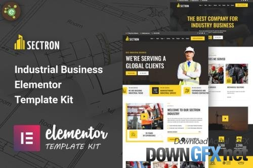 ThemeForest - Sectron v1.0.0 - Industrial Business Elementor Template Kit - 33721318