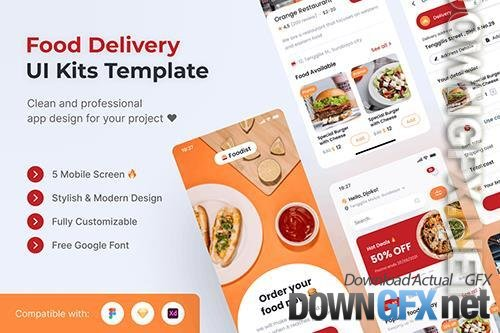 Food Delivery Mobile UI Kits Template