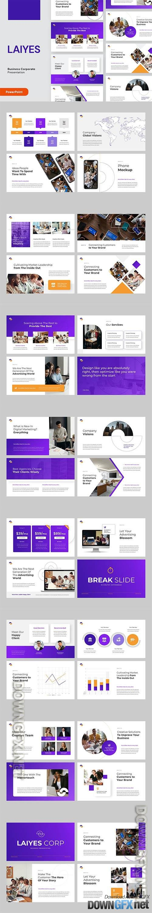 LAIYES - Business Pitch Deck Powerpoint, Keynote and Google Slides Template