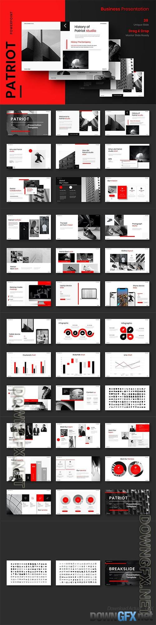 Patriot – Business Powerpoint, Keynote and Google Slides Template