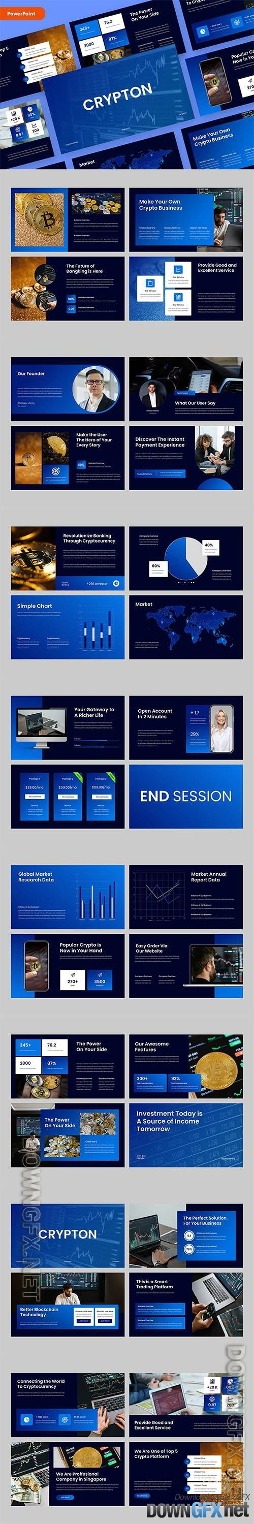 CRYPTON - Cryptocurrency Powerpoint, Keynote and Google Slides Template