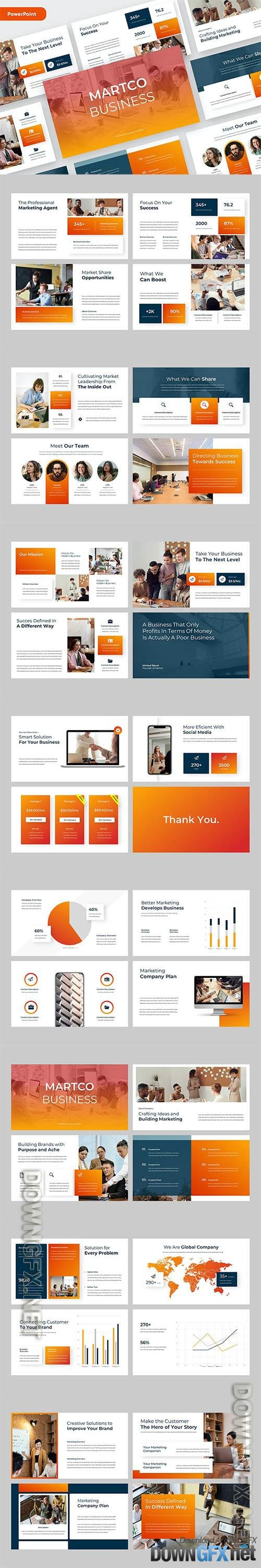 MARTCO - Business Corporate Powerpoint, Keynote and Google Slides Template