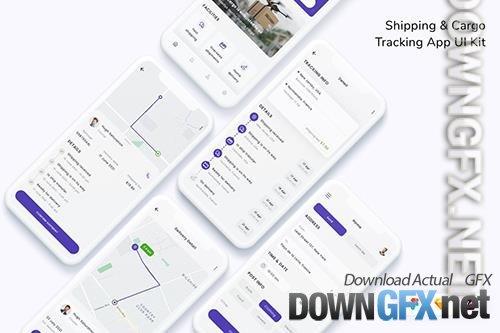 Shipping & Cargo Tracking App UI Kit
