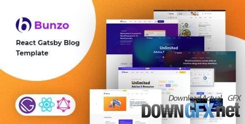 ThemeForest - Bunzo v1.0 - React Gatsby Blog Template - 33582749