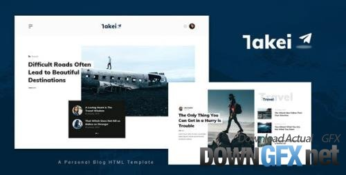 ThemeForest - Takei v1.0 - Blog and Magazine HTML Template - 33746881