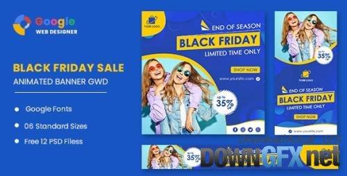 CodeCanyon - Fashion Banner Set Black Friday Sale HTML5 Banner Ads GWD v1.0 - 33791792