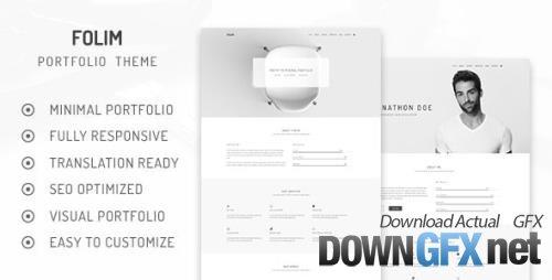 ThemeForest - Folim v2.0.0 - Clean Minimalist Portfolio WordPress Theme - 21992924