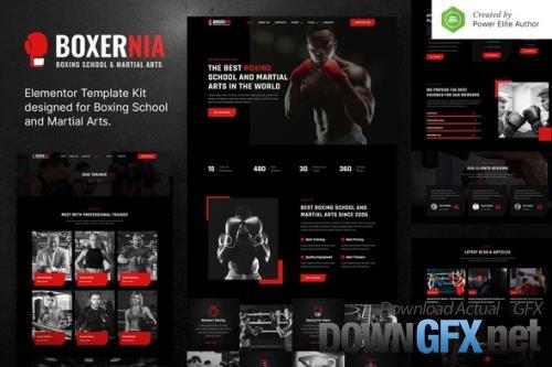 ThemeForest - Boxernia v1.0.0 - Boxing School & Martial Arts Elementor Template Kit - 33828209