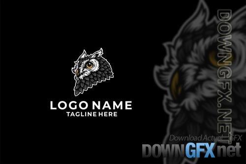 Owl Head Logo Design Vector