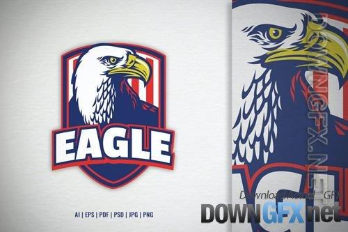 Bald Eagle Shield Logo Template