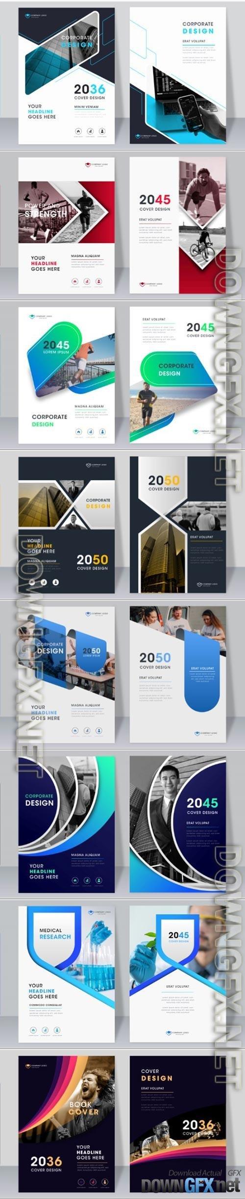 Multipurpose corporate modern book cover vector template