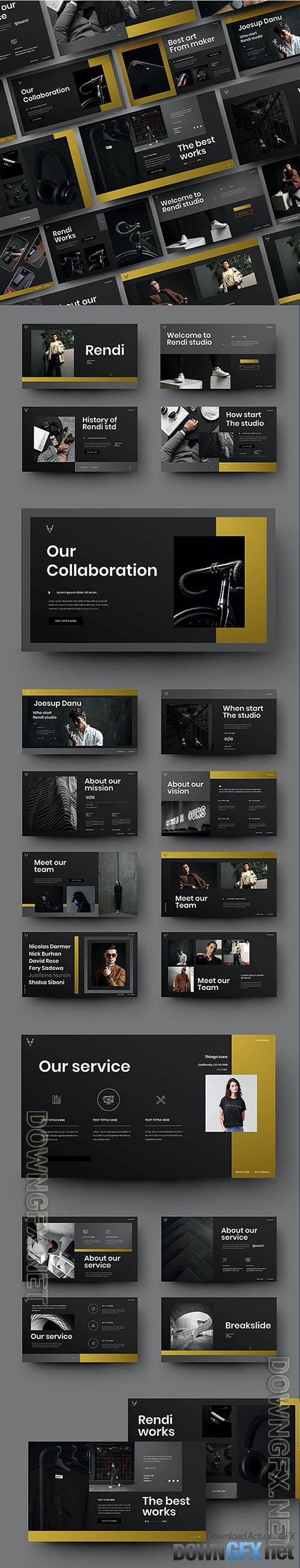 Rendi - Business Powerpoint, Keynote and Google Slides Template