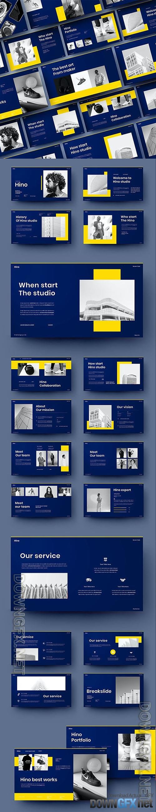 Hino - Business Powerpoint, Keynote and Google Slides Template