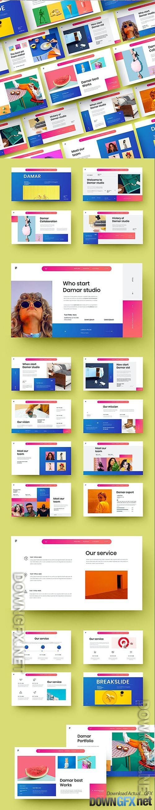 Damar - Business Powerpoint, Keynote and Google Slides Template