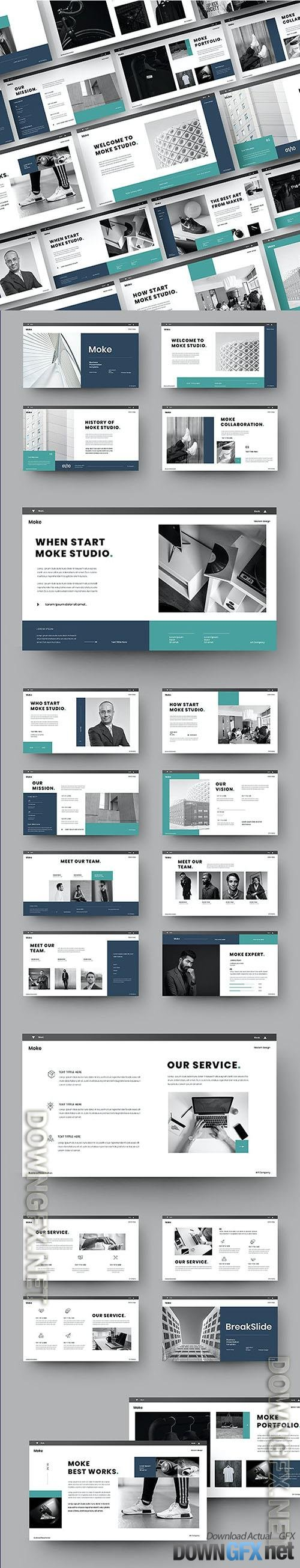Moke - Business Powerpoint, Keynote and Google Slides Template