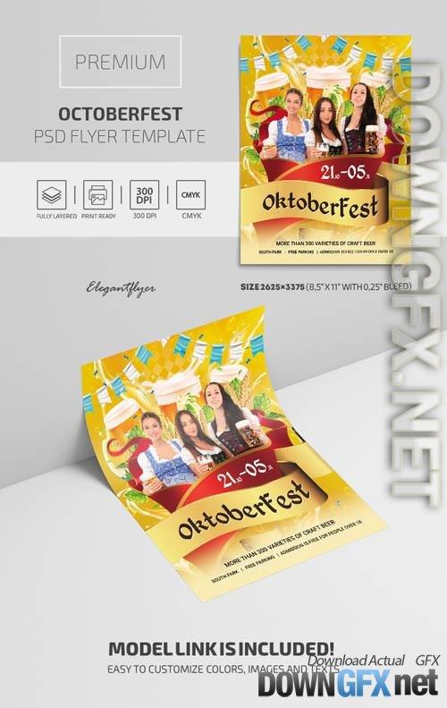 OctoberFest Premium PSD Flyer Template