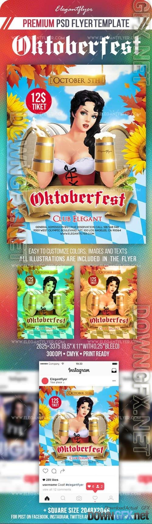 Oktoberfest Flyer PSD Template Instagram template