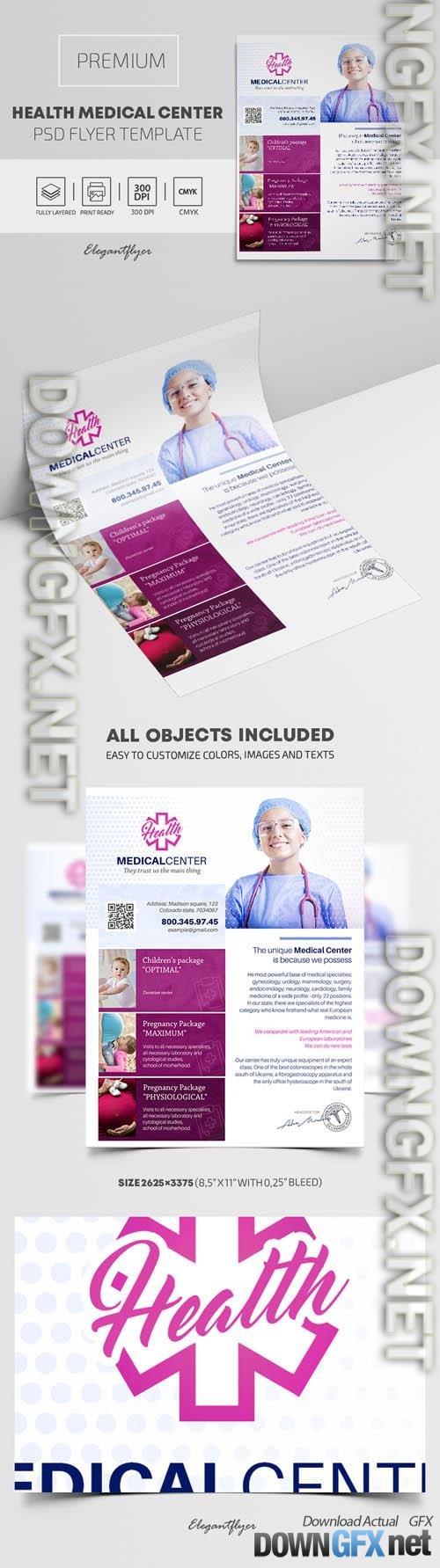 Health Medical Center Premium PSD Flyer Template
